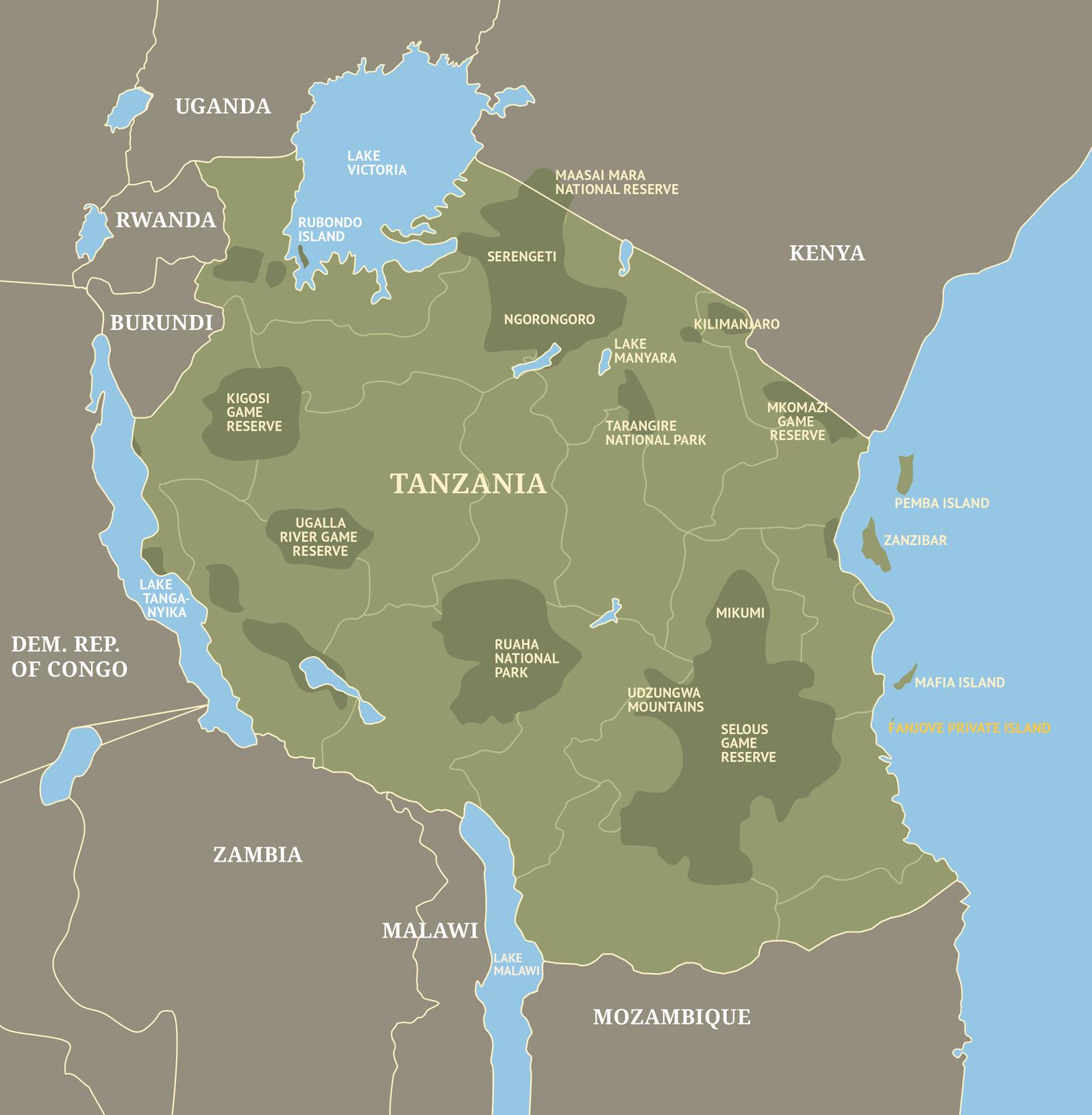 Fanjove Private Island Tanzania Essential Destinations